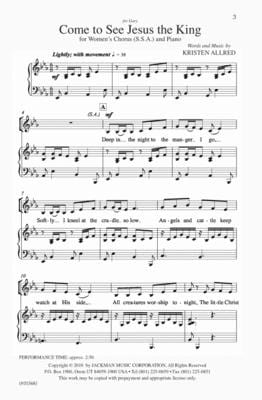 Come To See Jesus The King Ssa | Sheet Music | Jackman Music