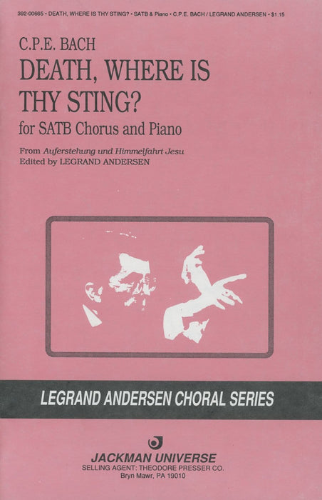 Death Where Is Thy Sting - SATB | Sheet Music | Jackman Music