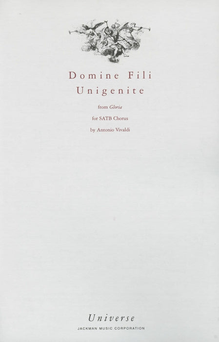 Domine Fili Unigenite - SATB
