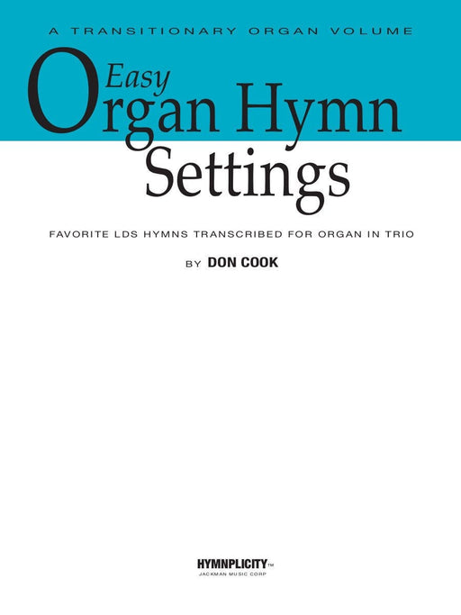 Easy Organ Hymn Settings | Sheet Music | Jackman Music