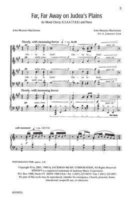 Far Far Away On Judeas Plain Ssaattbb | Sheet Music | Jackman Music