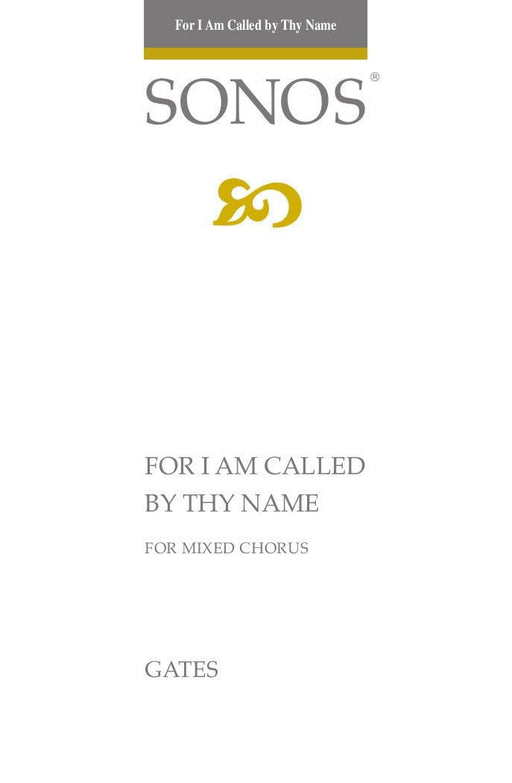 For I Am Called by Thy Name - SATB | Sheet Music | Jackman Music
