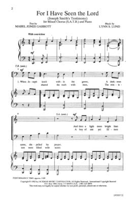 For I Have Seen The Lord Satb | Sheet Music | Jackman Music