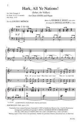 Hark All Ye Nations Satb | Sheet Music | Jackman Music