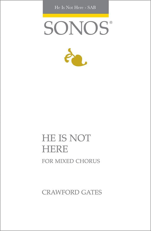 He Is Not Here - SAB | Sheet Music | Jackman Music