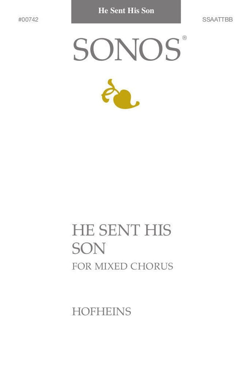 He Sent His Son - SSAATTBB | Sheet Music | Jackman Music
