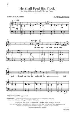 He Shall Feed His Flock - SATB