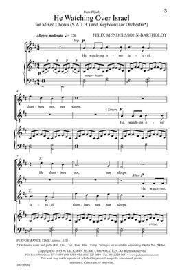 He, Watching Over Israel - SATB