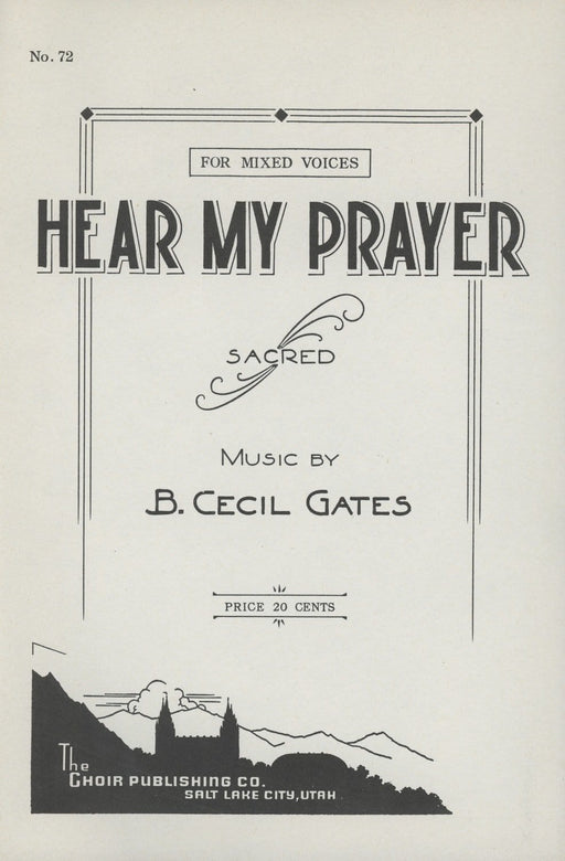 Hear My Prayer - SATB | Sheet Music | Jackman Music