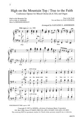 High On The Mountain Top True To The Faith Satb | Sheet Music | Jackman Music
