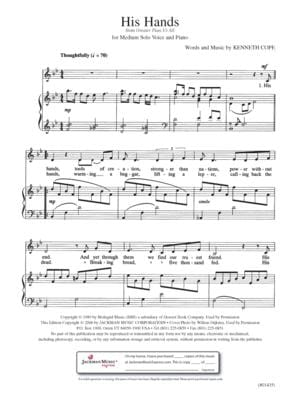 His Hands Vocal Solo | Sheet Music | Jackman Music