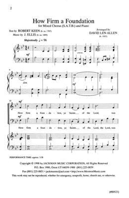 How Firm a Foundation - SATB
