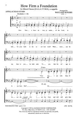 How Firm a Foundation - SATB - a cappella
