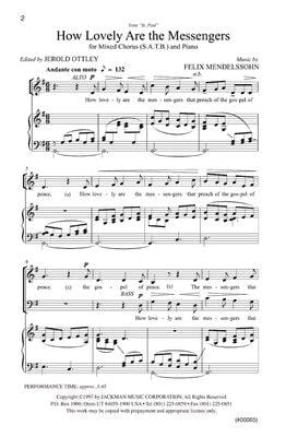 How Lovely Are The Messengers Satb | Sheet Music | Jackman Music
