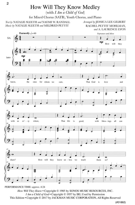 How Will They Know Medley - SATB