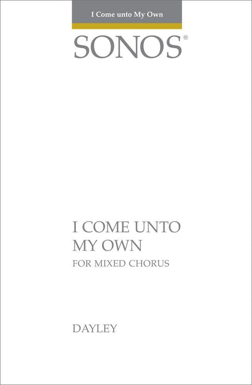 I Come Unto My Own - SSATTBB | Sheet Music | Jackman Music