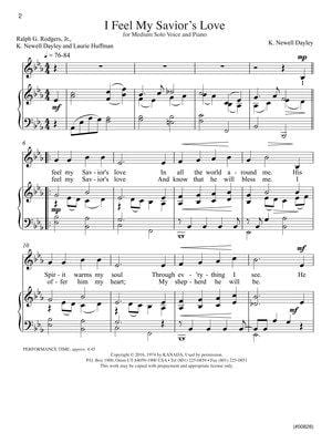 I Feel My Saviors Love Vocal Solo | Sheet Music | Jackman Music