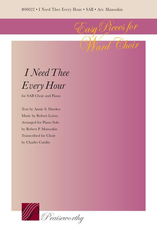 I Need Thee Every Hour - SAB - Cardin | Sheet Music | Jackman Music