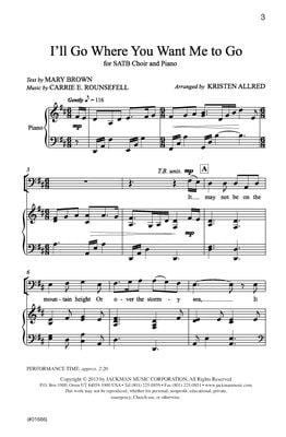 Ill Go Where You Want Me To Go Satb Allred | Sheet Music | Jackman Music