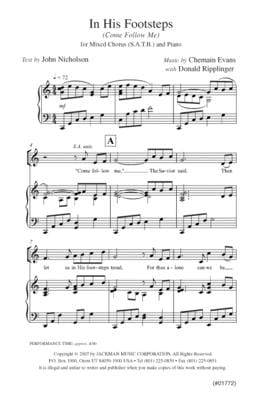 In His Footsteps (Come Follow Me) - SATB