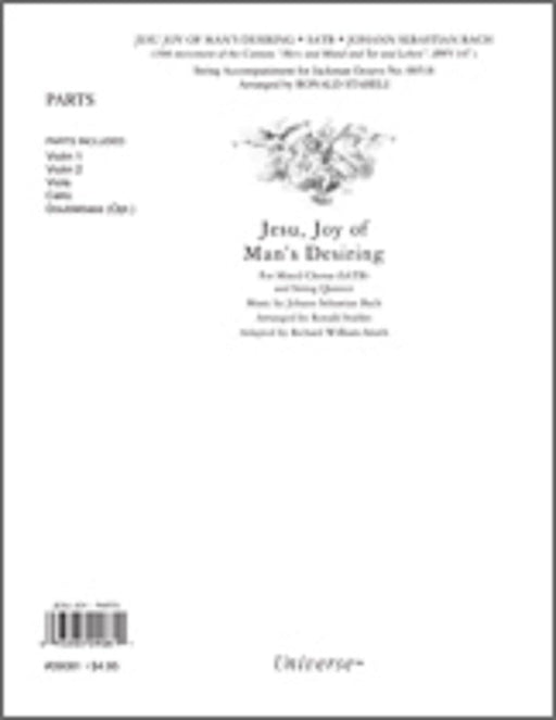 Jesu Joy of Man's Desiring - String Quartet Parts