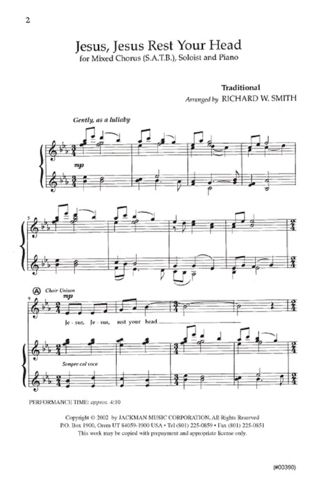 Jesus Jesus Rest Your Head Satb | Sheet Music | Jackman Music
