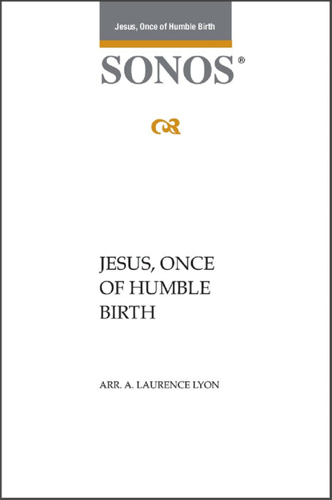 Jesus Once of Humble Birth - SSAATTBB - Lyon | Sheet Music | Jackman Music