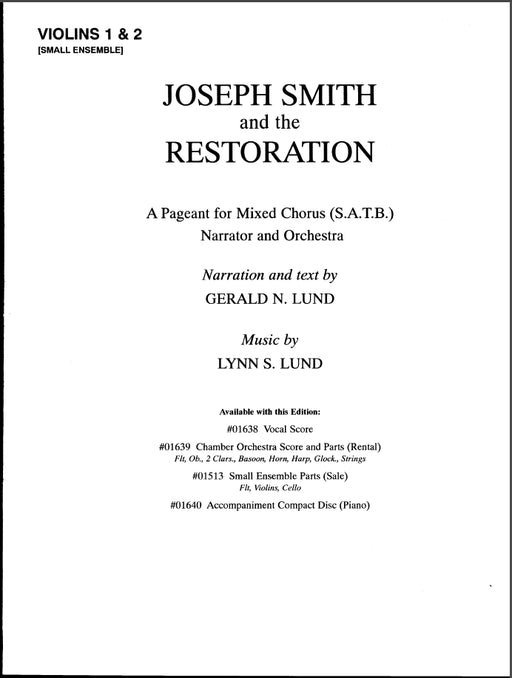 Joseph Smith and the Restoration - Small Ensemble Parts | Sheet Music | Jackman Music