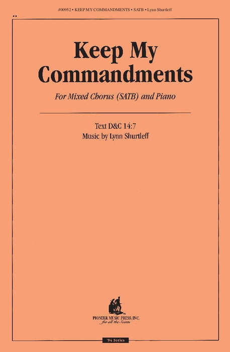 Keep My Commandments - SATB