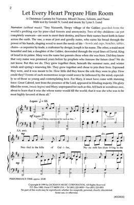 Let Every Heart Prepare Him Room Cantata | Sheet Music | Jackman Music