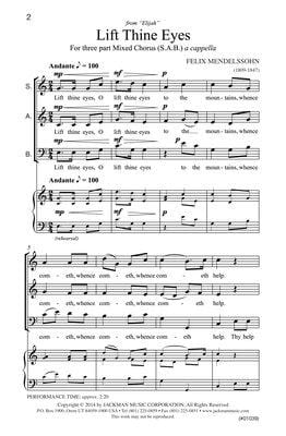 Lift Thine Eyes Sab | Sheet Music | Jackman Music