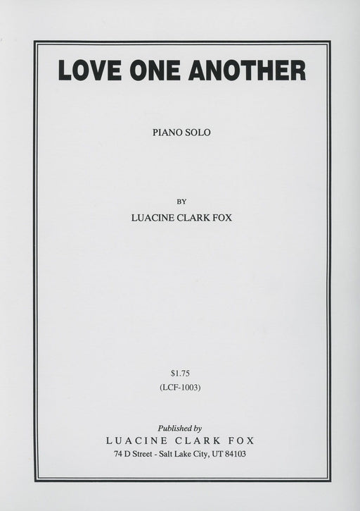 Love One Another - Piano Solo - Fox