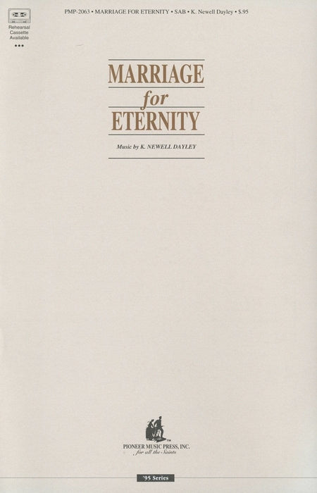 Marriage for Eternity - SAB | Sheet Music | Jackman Music