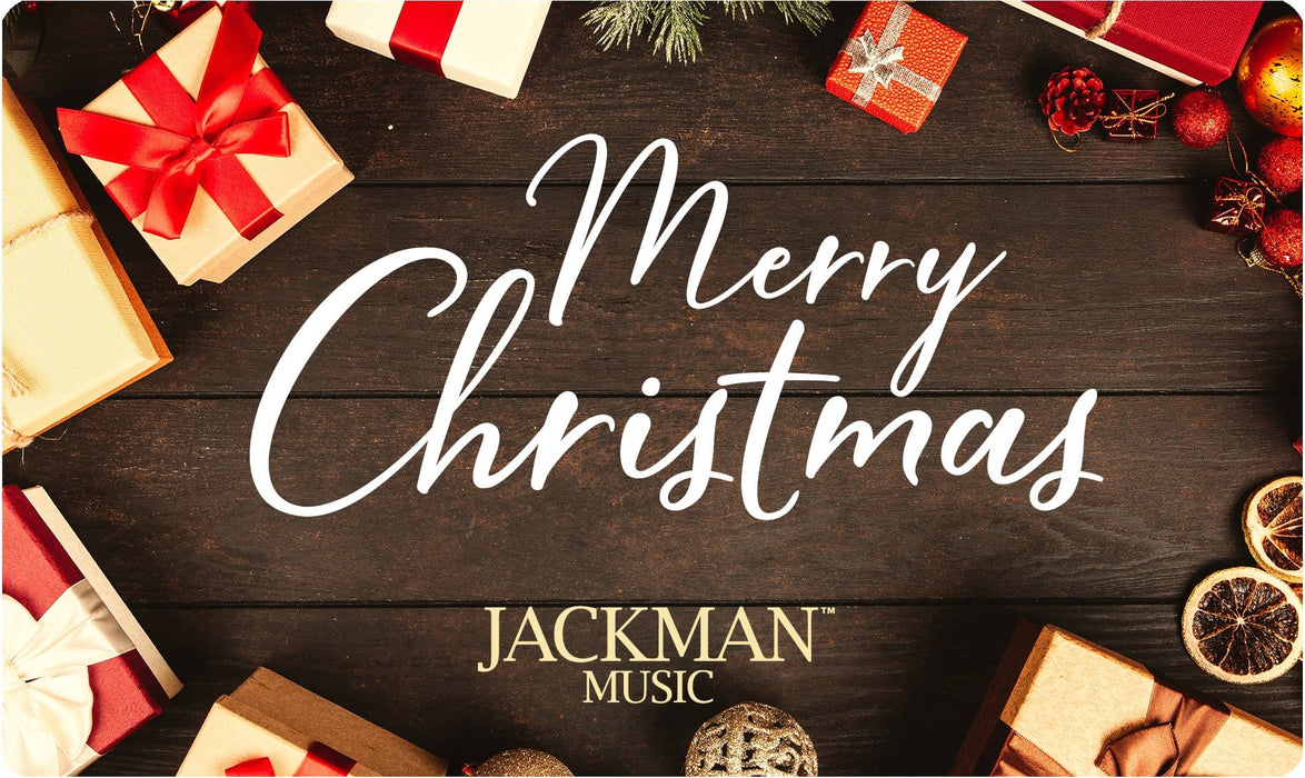 Jackman Music Merry Christmas Gift Card