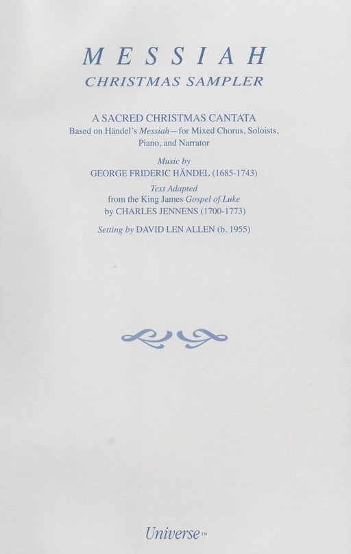 Messiah Christmas Sampler - Cantata | Sheet Music | Jackman Music