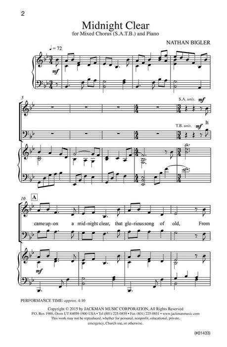 Midnight Clear - SATB