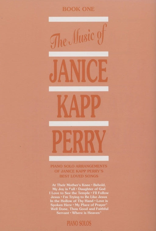 Music of Janice Kapp Perry - Book 1 - Piano Solos | Sheet Music | Jackman Music