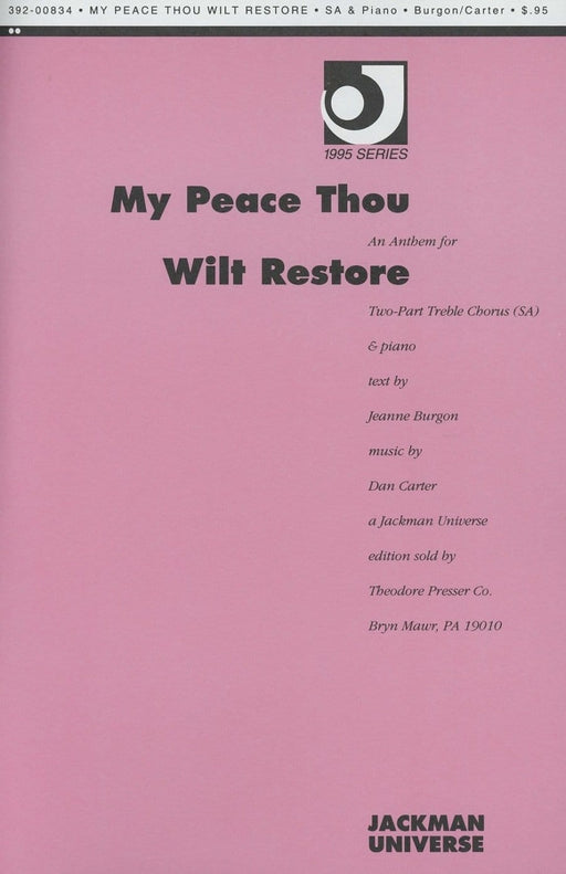 My Peace Thou Wilt Restore - SA | Sheet Music | Jackman Music