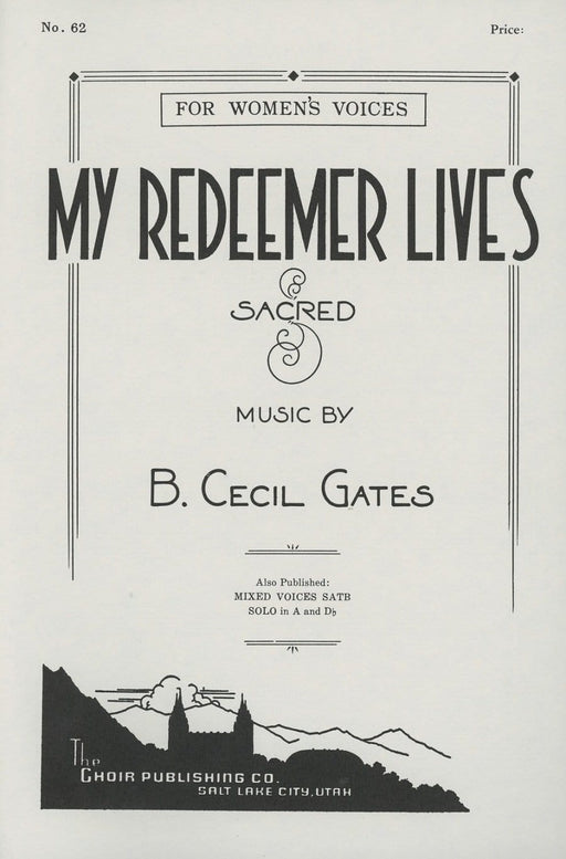 My Redeemer Lives - SSA | Sheet Music | Jackman Music