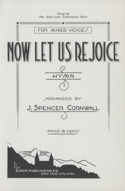 Now Let Us Rejoice - SATB with Organ (Cornwall) | Sheet Music | Jackman Music