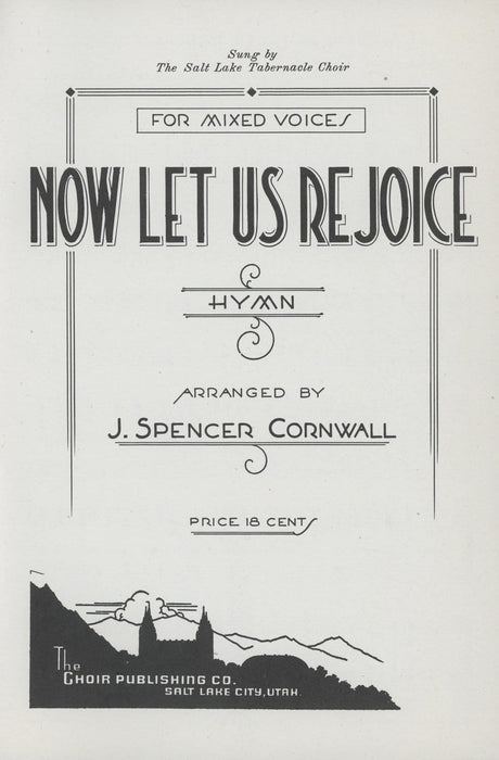 Now Let Us Rejoice - SATB with Organ (Cornwall)