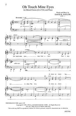 Oh Touch Mine Eyes Satb | Sheet Music | Jackman Music