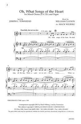Oh What Songs Of The Heart Satb | Sheet Music | Jackman Music