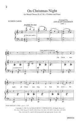 On Christmas Night (All Christians Sing) - SATB & Children