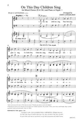 On This Day Children Sing - SATB