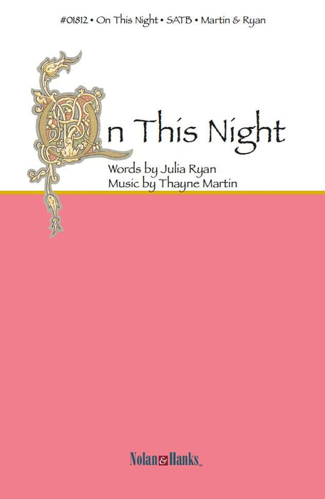 On This Night (SATB) - Ryan/Martin | Sheet Music | Jackman Music