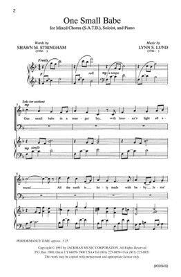 One Small Babe - SATB