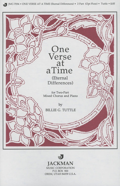 One Verse at a Time - 2 part | Sheet Music | Jackman Music