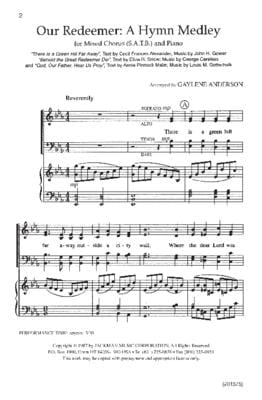 Our Redeemer A Hymn Medley Satb | Sheet Music | Jackman Music
