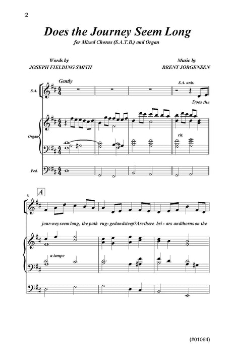 Does the Journey Seem Long? - SATB & organ